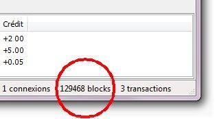 Visualiser le nombre de blocs bitcoin