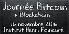 journée Bitcoin et blockchain à l'institut Henri Poincaré