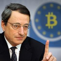 Draghi: «Det är inte ECB: s roll att reglera Bitcoin»